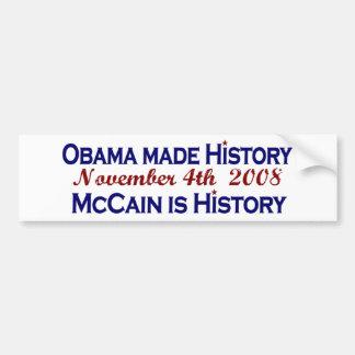 Obama Made History 2008 Bumper Sticker