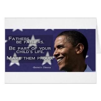 Obama Make your children proud Card