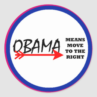 OBAMA Means Move To The Right The MUSEUM Zazzle Stickers