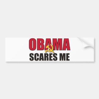 Obama m'effraye autocollant de voiture