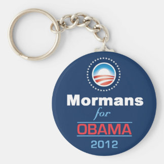 Obama MORMANS Basic Round Button Keychain