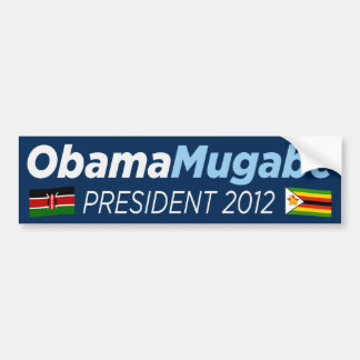 Obama Mugabe 2012 Bumper Sticker