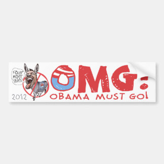 Obama Must Go 2012 Bumper Sticker