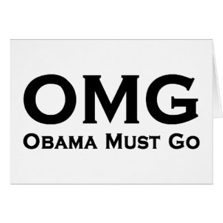 Obama Must Go Anti Obama Card