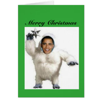 Obama-nable Snowman Christmas Card
