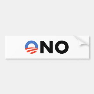 Obama No Bama Nobama Oh No Obama Bumper Sticker
