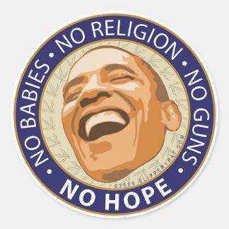"""Obama """"No Hope"""" Sticker"""