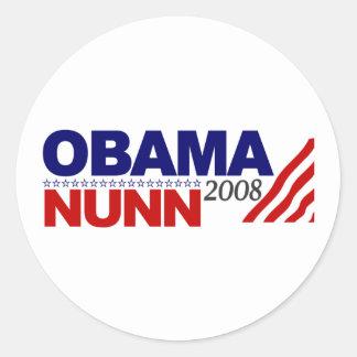 Obama Nunn 2008 Round Sticker