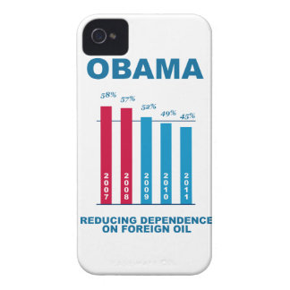 Obama Oil Independence Graph iPhone 4 Cases