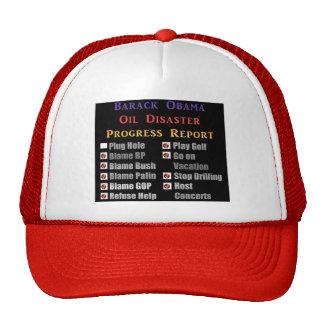 Obama oil spill progress report trucker hat