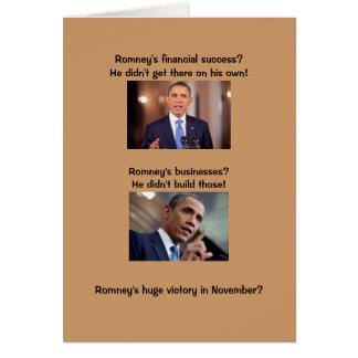 Obama on success greeting card