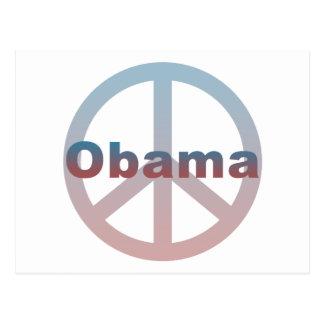 Obama Peace Symbol Postcard