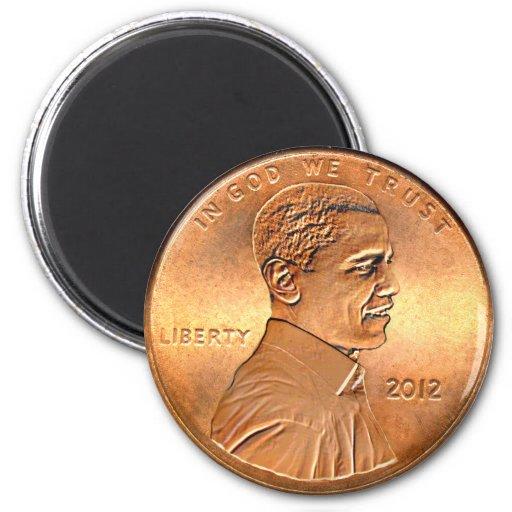Obama Penny 2012 Magnet