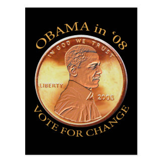 Obama Penny Postcard