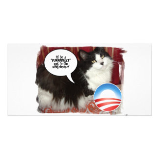 Obama Pet/Political Humor Photo Greeting Card