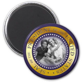 Obama Presidential Seal Portrait 2 Inch Round Magnet