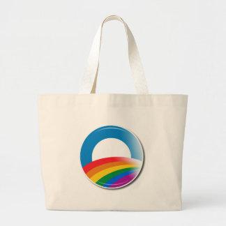 Obama Pride Button Large Tote Bag