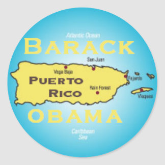 Obama Puerto Rico Sticker