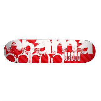 Obama ; Rayures de rouge d'écarlate Skateboards Personnalisés