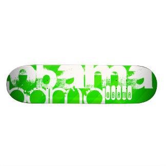 Obama ; Rayures vertes au néon Plateaux De Skateboards Customisés