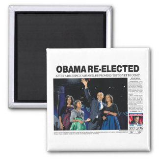 Obama Re-Elected Magnet