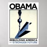 Obama: Rebuilding America Posters