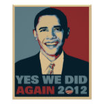 Obama Reelected 2012 Posters