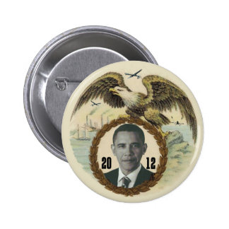 Obama Retro Eagle Drone 2 Inch Round Button