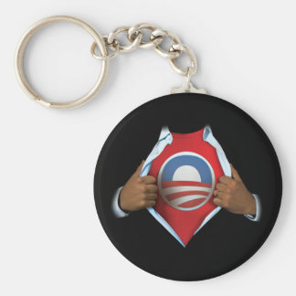 Obama Reveal Basic Round Button Keychain