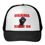 OBAMA RIGHT ON MESH HAT