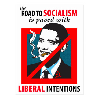 Obama:  Road To Socialism Postcard
