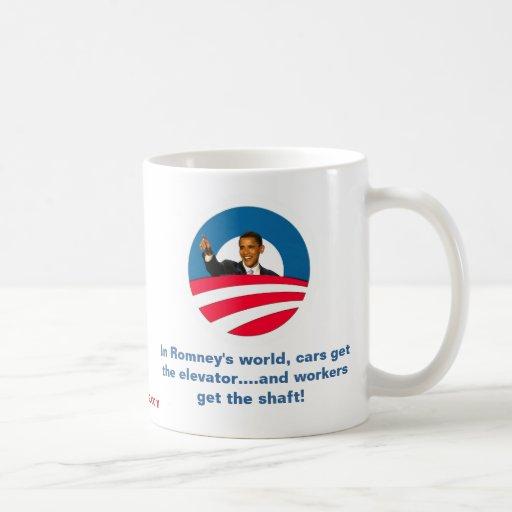 Obama - Romney Shafts Workers Mug