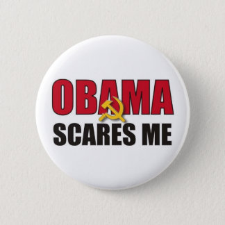 Obama Scares Me 2 Inch Round Button