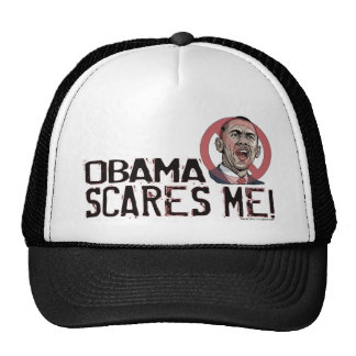 Obama Scares Me Shirts and Gear Trucker Hat