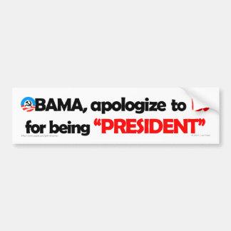 Obama should apologize to US bumper sticker