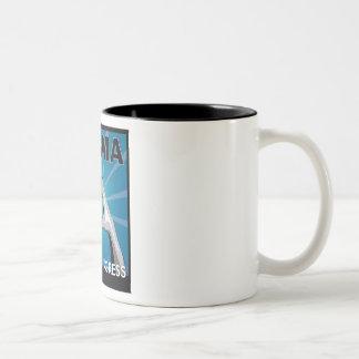 OBAMA SIGN OF INGRESS- SIGN OF ENTRY Two-Tone COFFEE MUG