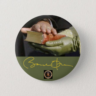 Obama Signature and Lincoln Bible 2 Inch Round Button
