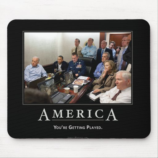 Obama Situation Room Demotivational Mouspad Mousepads