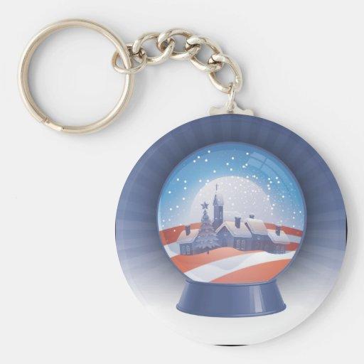 obama snow globe key chain