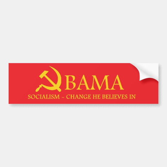 Obama socialism bumper sticker