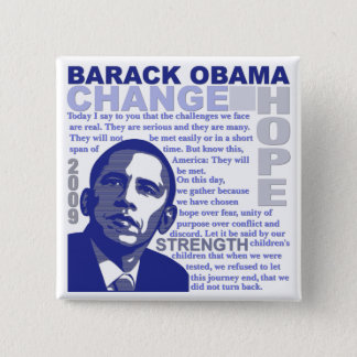 Obama Speech 2 Inch Square Button