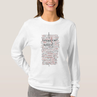 Obama Speech Word Cloud T-Shirt