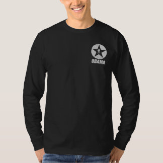 Obama Star Men's Long Sleeve (Gray) T-Shirt