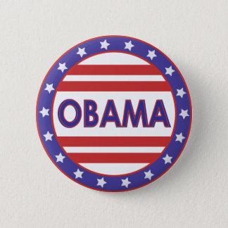 Obama Stars&Stripes Circle 2 Inch Round Button