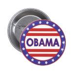 Obama Stars&Stripes Circle Pins