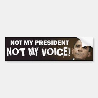 obama stitches not my president not my voice bumper sticker