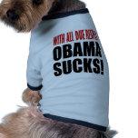 Obama Sucks Pet T-shirt