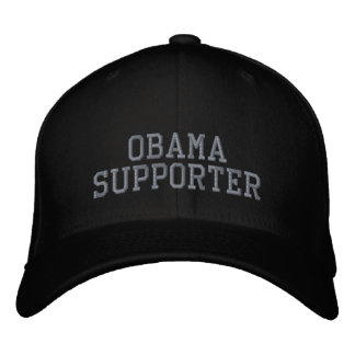 OBAMA SUPPORTER EMBROIDERED HAT