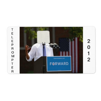 Obama Teleprompter Stickers Shipping Label