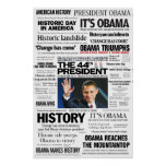 Obama: The 44th President Headline Collage Poster